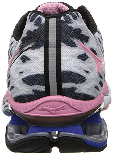 Mizuno Mujeres Wave Creation 15 Zapato Running Blanco / Mar Rosa / Deslumbrante Azul