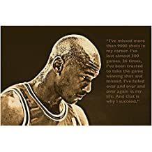 SUCCESS QUOTE photo poster MICHAEL JORDAN basketball great SPORTS FAN 24X36 - 2 TO 5 DAYS SHIPPING FROM USA by HSE