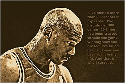 SUCCESS QUOTE photo poster MICHAEL JORDAN basketball great S