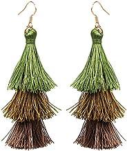 Tassel Dangle Threader Drop Earrings Ear Studs Layered Fringe Thread Hoops Linear Tribal Charms Jewelry