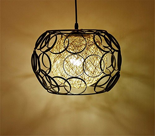 DIDIDD Chandelier-European Style Simple Creative Restaurant Chandelier Personalized Retro Iron Lamps,A ()