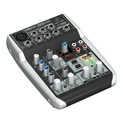 Package - Behringer Xenyx Q502USB Premium 5-Input 2-Bus Mixer + 1 EMB Emic800 Microphone + 1 Microphone Stands by Package (Image #1)