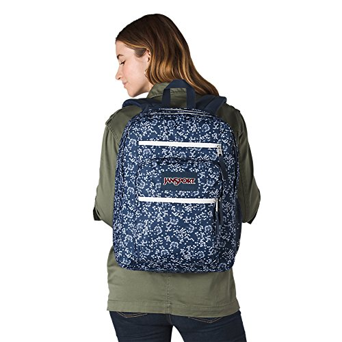 JanSport Unisex Big Student Oversized Backpack Navy Field Floral by JanSport (Image #4)