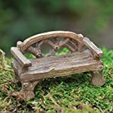 Fiddlehead Fairy Village Miniature Rustic Woodland Bench with Bonus Novelty Fairies Bill and I Believe in Fairies 3″ Decal