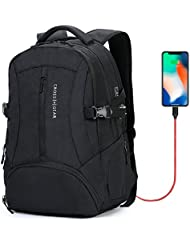 CrossGear Anti Theft Laptop Backpack for Men Business School Travel Computer Bag with USB Charging Port Fit 15.6...
