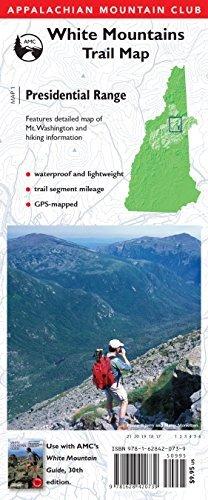 AMC Map: Presidential Range: White Mountains Trail Map (Adventure ...