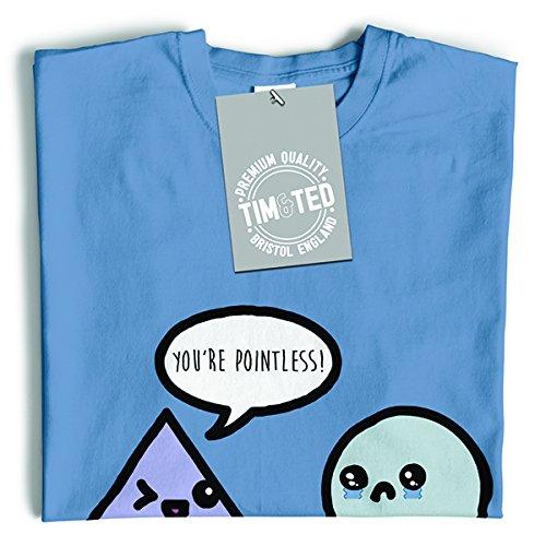 Tim and Ted Sei inutile, matematica Geek Humor Nerdy divertente Forme geometriche T-Shirt Da Donna