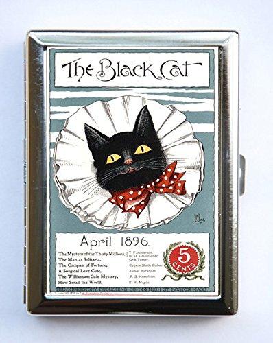 Amazon black cat bow tie cigarette case wallet business card black cat bow tie cigarette case wallet business card holder reheart Gallery