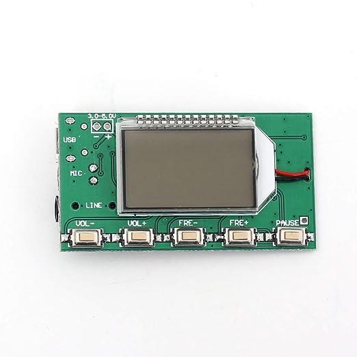 Fm Transmitter Modul Dsp Pll 87 108 Mhz Stereo Digital Wireless Mikrofon Board Mit Lcd Display Gewerbe Industrie Wissenschaft
