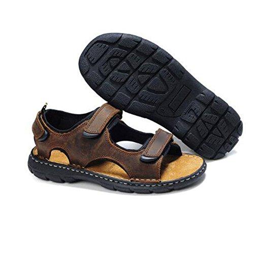 Casual NIUWJ Libero Il Comfort Sandali Giovani Spiaggia Pantofole Marrone Moda L'Uomo Tempo All'aperto qrrZTgt