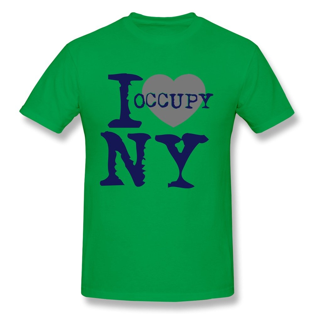 Nubia I Love Occupy NY Funny Tshirt for Mens RoyalBlue