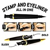 Cleopatra Cat Eye Stamp (Sleek) - Double-sided Winged Eyeliner Stamp Pen | Waterproof, Smudge Proof, and Long Lasting | Dermatologist Formulated, Tested, and Approved | Cruelty Free