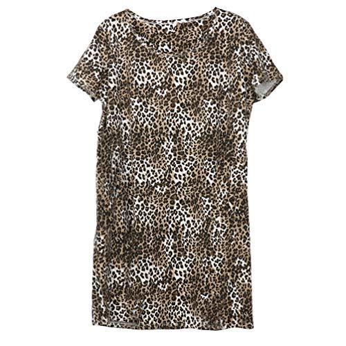 (ENJOYNIGHT Women's Sleepwear Cotton Sleep Tee Short Sleeves Print Sleepshirt (Small, Sexy)