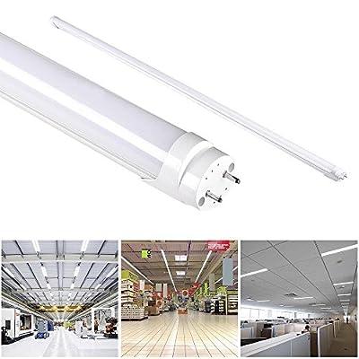 4Ft T8 LED Tube Light Replacement Fluorescent Tubes Retrofit Kit Ceiling Light 6000K 6500K Milky Cover 18W Cool White SMD 2835