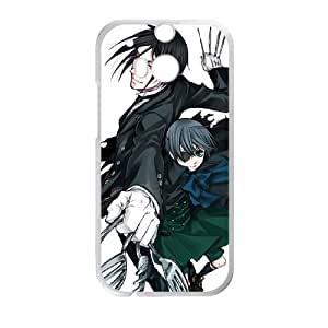 HTC One M8 Cell Phone Case White Black Butler A38436627