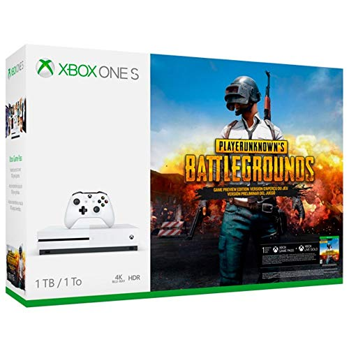 Console Xbox One S - 1 Terabyte + HDR + 4K Streaming + Jogo Battlegrounds