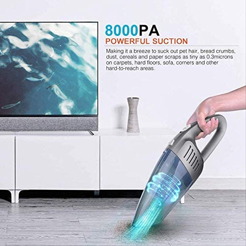 Aspirateur portablePortable Handheld Vacuum Handheld Vacuum Cleaner Cordless Strong Suction Rechargeable Quick