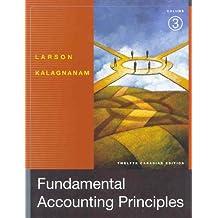 Fundamental Accounting Principles, Volume 3, Twelfth Edition