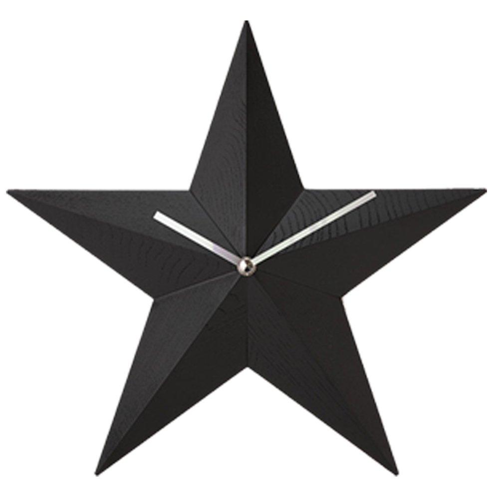 MADEJ マデイ Wood 時計 星 MDJ008 (BLACK(MDJ008-BK)) B075K7R4CWBLACK(MDJ008-BK)