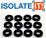 Isolate It: Sorbothane Vibration Isolation Washer 70 Duro (.45'' ID - 1'' OD - .19'' Deep) - 12 Pack