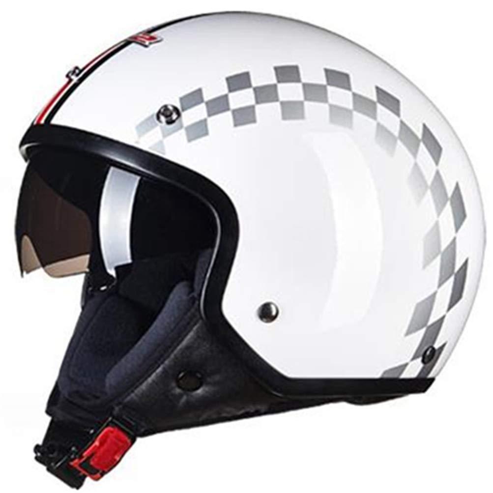 Casco de Motocicleta para Adultos Off-Road Casco de Motocicleta Retro cl/ásico con Lentes incorporadas y Forro removible Cascos Moto Motocross CPAS