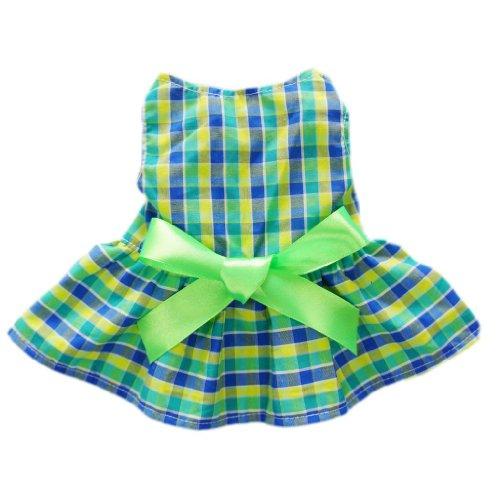 Fitwarm Casual Plaid Dog Dress Dog Clothes Cozy Dog Shirt Pet Dress, Large