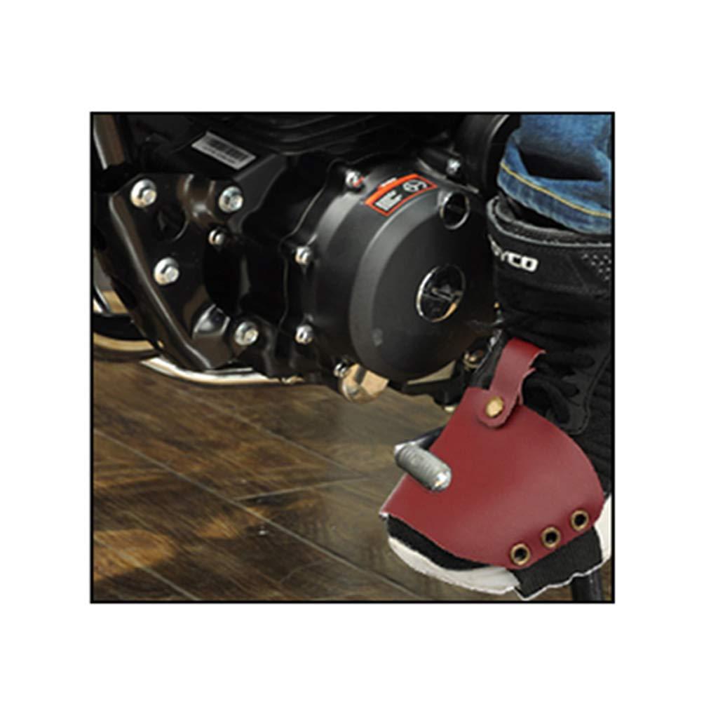 Homyl Cubierta Protectora de Bota Zapato Cambio Marcha Moto Resistente Al Desgaste Marr/ón