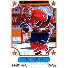 Randy Toye Hockey Card 1991-92 7th Inning Sketch WHL #20 Randy Toye