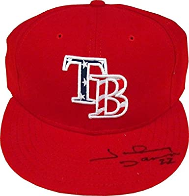 Johnny Damon Autographed Tampa Bay Rays Hat