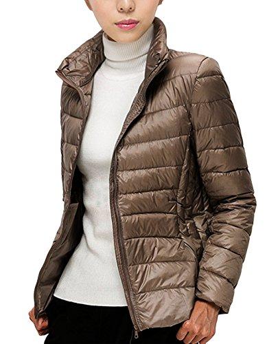 Packable Puffer Gray Women Jacket Jacket Winter Down HwqFqT