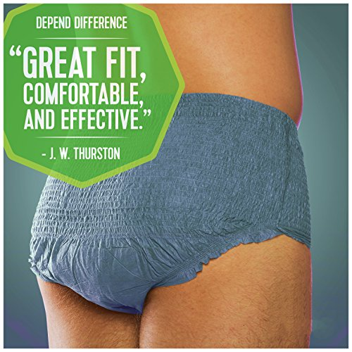 Depend FIT-Flex Incontinence Underwear for Men, Maximum Absorbency, L by Depend (Image #7)