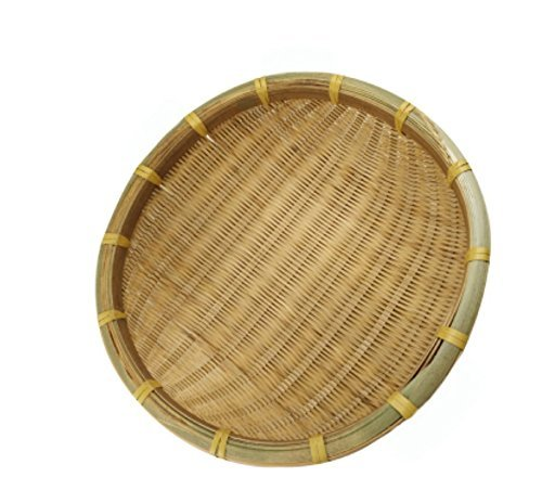 SMKF Small Kichen Baskets for Bread, Fruits and Veggies Pure Natural Bamboo Basket (8-inch)