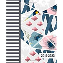 """2019-2023 Five Year Planner: Art Flowers Cover, 60 Months Planner For The Next Five Year 8"""" x 10"""" Monthly Calendar Agenda Planner and Monthly Schedule Organizer With Holidays and inspirational Quotes"""