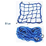 Psler Motorcycle Heavy -duty Cargo Net, High elastic Stretchers Helmet Mesh Bag(Small Size Blue)