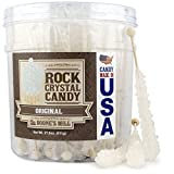 Boone's Mill | Rock Crystal Candy Sticks | Clear/White Original | 36 Sticks