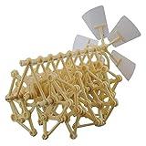 Wisedeal Wind-powered Animaris Ordis Parvus Strandbeest Model Robot (Beige)