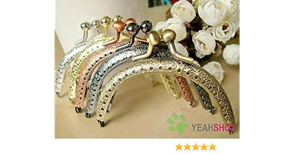 Amazon Com Half Round Bead Embossed Purse Frame   Inch Pf  Set Of  Everything Else