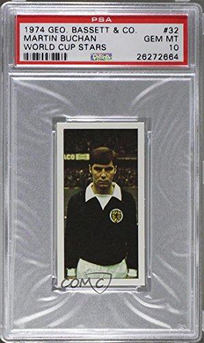 Martin Buchan PSA GRADED 10 (Trading Christmas card) 1974 Bassett World Cup Stars - [Base] #32