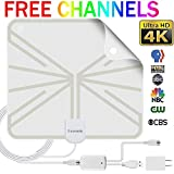 HDTV Antenna Indoor Digital TV Antenna, 50 Miles Range HD Antenna with Detachable Amplifier Signal Booster and 13FT Coaxial Cable