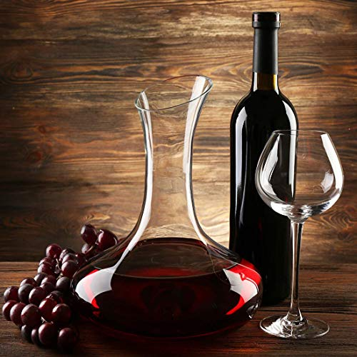 TOBSAYK Wine Decanters with Drying Stand Hand Blown 100/% Lead-Free Crystal Glass Decanting Aerator 1800ML Wine Carafe Wine Accessories Perfect for Drinker//Wine Lovers Wine Gift