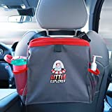 Little Explorer Premium Car Trash Can, Vehicle Waterproof Organizer Designed for Console BackSeat.