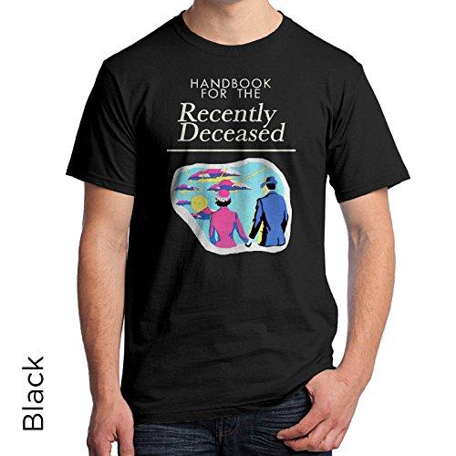 Beetejuice Mens T Shirt Handbook Recently Deceased 290  Medium  Black