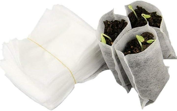 Heaviesk 100 UNIDS/Bolsa Semillas Biodegradables Vivero Bolsas ...