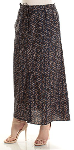 Lauren Long Skirt Skirt - Lauren by Ralph Lauren Crepe de Chine Cargo Maxi Skirt (Multi, M)