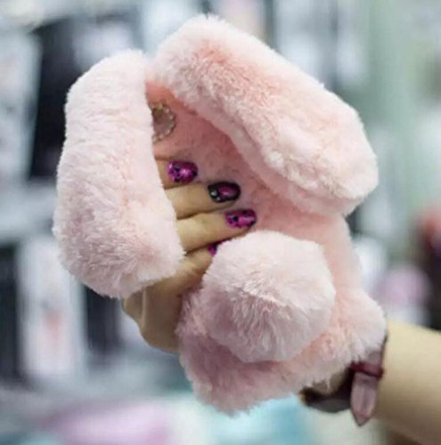 Iphone 6/6s Fur Case For Girls,Jesiya luxury Cute Toy Warm Handmade Rabbit Bunny Furry Fuzzy Soft Rabbit Fur Hair Plush Case Cover For Iphone 6/6s 4.7
