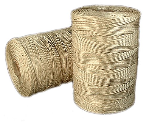 - Natural Hemp Twine 48 lb. (±2mm) Polished 1 Kg Spool