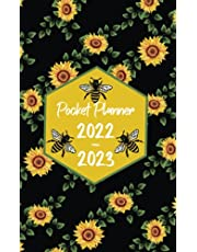 2022-2023 Pocket Planner: Two-Year Monthly Calendar Planner for Purse - 24 Months Pocket Agenda Schedule,To-do list, Goals,US Holidays & Quotes - 2-year pocket planner - Sunflowers, Honeycomb & Bees Cover