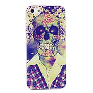 FJM PC Skull in Suit Pattern Hard Case for iPhone 5/5S