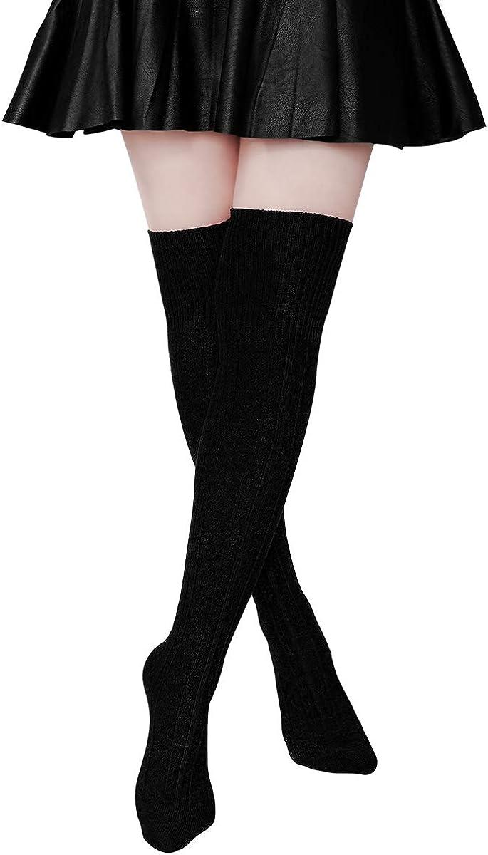 Extra Knee Socks High Socks Twist Thigh Japanese Long Thick Needle Long Sock KS
