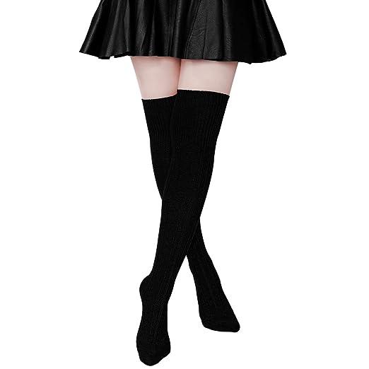 d775408f37528 Hippih Womens Winter Over Knee Leg Warmer Crochet Thigh High Boot Socks  Girls Leggings